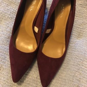 """2 for $20"" Merona Kitten Heel Shoes- Maroon"